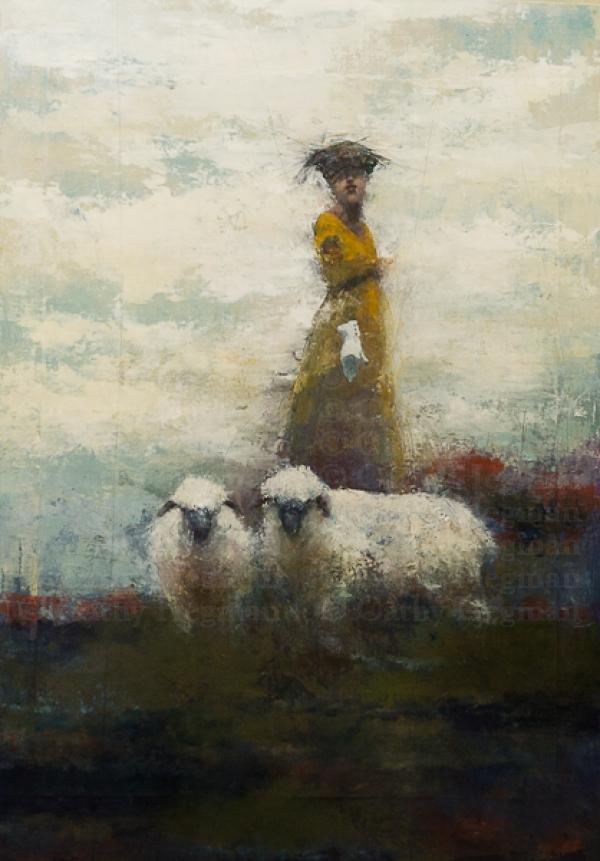 Wool Gatherers II  SOLD